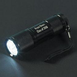 Personalized Black Aluminum LED Flashlight