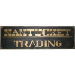 Nantucket Trading Wood Sign