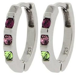 Personalized 3 Stone Swarovski Crystal Birthstone Earrings