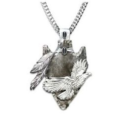 Sacred Guardian Eagle Arrowhead Pendant