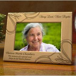 Personalized Never Forgotten Wooden Picture Frame