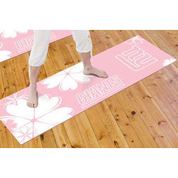 New York Giants Pink Yoga Mat