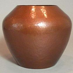 Van Erp Hammered Copper Acorn Vase