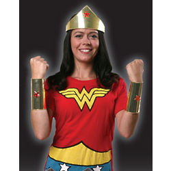 Wonder Woman Cuffs and Crown Set
