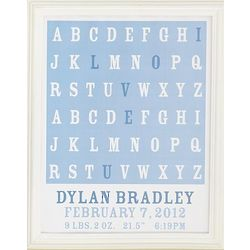 Personalized I Love You A to Z Framed Print