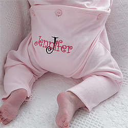 Baby's All About Me Personalized Pink Romper