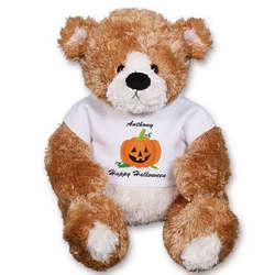 Personalized Happy Halloween Pumpkin Teddy Bear
