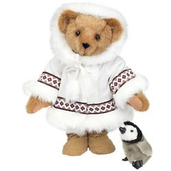 Arctic Holiday Teddy Bear with Penguin