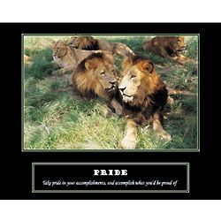 Lion Pride Personalized Art Print
