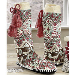 Muk Luks Snowflake Slipper Socks
