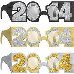 2014 Paper Glitter Glasses