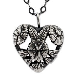 Isthmus Flowers Sterling Silver Pendant