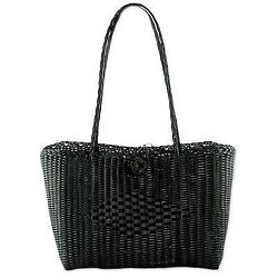 Undeniable Beauty in Black Recycled Plastic Tote