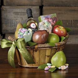 Cheerful Indulgence Fruit and Gourmet Basket