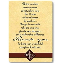 Thank You Inspirational Prayer Cards