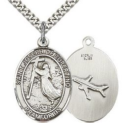 Sterling Silver St. Joseph of Cupertino Pendant with Chain