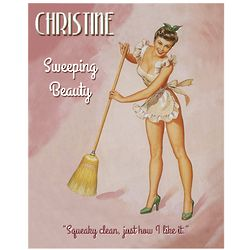 Sweeping Beauty Personalized Pinup Print