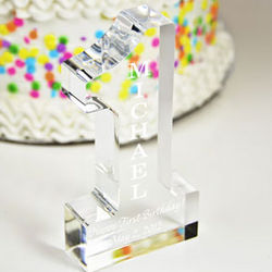Personalized Happy 1st Birthday Cake Topper