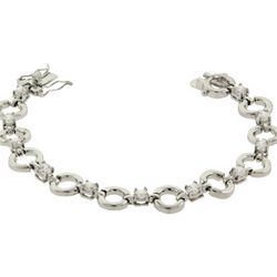 Round Linked CZ Tennis Bracelet