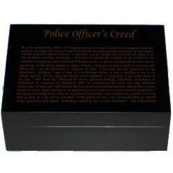 Police Officers' Creed Keepsake Box
