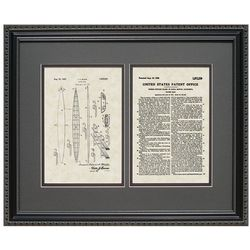 Surfboard 16x20 Framed Patent Art Print
