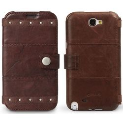 Brown OEM Zenus Galaxy Note 2 Bohemian Leather Case