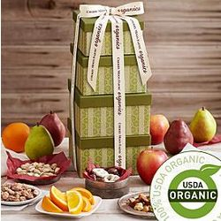 Organic 4 Piece Fruit and Snack Tower