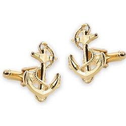 Gold Plated Anchor Cufflinks