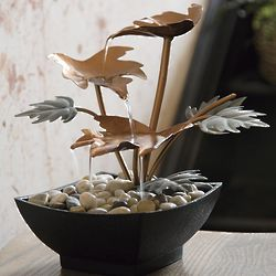 3 Leaf Indoor Metal Fountain