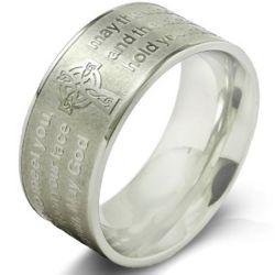 Sterling Silver Irish Prayer Ring
