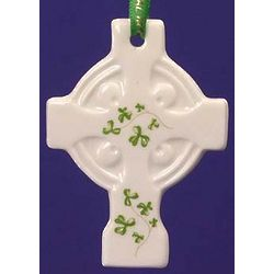 Celtic Cross Trellis Shamrock Ornament
