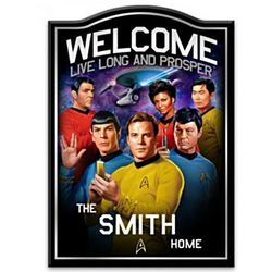 Star Trek Personalized Wooden Welcome Sign
