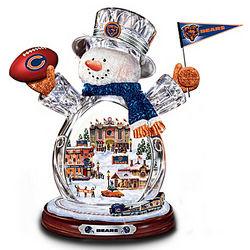 Chicago Bears Crystal Snowman Figurine
