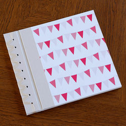 Pink Bunting Baby's First Memory Book