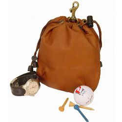 Drawstring Valuables Golfing Pouch