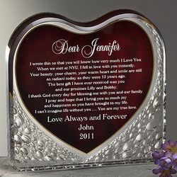 Your Love Letter Personalized Heart Sculpture