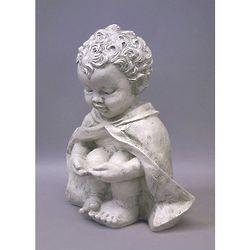 Pondering Baby St Francis Garden Sculpture