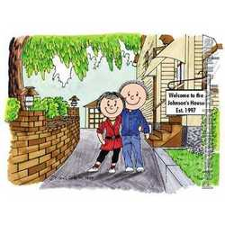 New Home Personalized Cartoon