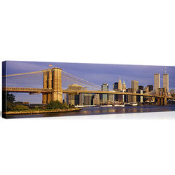 Brooklyn Bridge Skyline in New York City Canvas