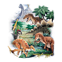 Dinosaurs Ii Adult T-Shirt