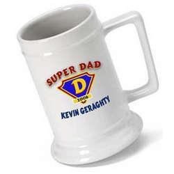Super Dad Personalized Beer Stein