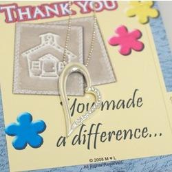 Thank you Teacher Heart Necklace