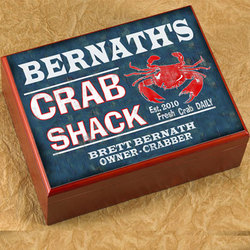 Personalized Crab Shack Humidor