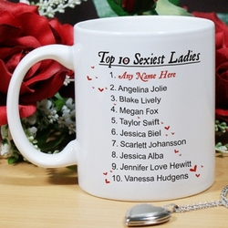 Personalized Top 10 Sexiest Ladies Mug