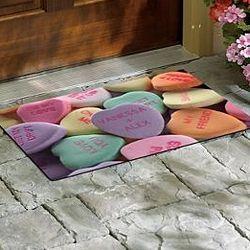 Conversation Hearts Doormat