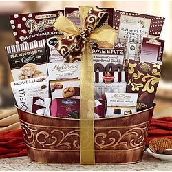 Chocolate and Snack Assortment Gift Basket