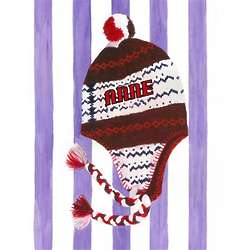 Personalized Winter Weather Hat Fine Art Print