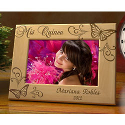 Personalized Butterfly Quinceañera Frame