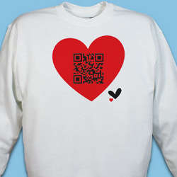 Personalized QR Code Heart Sweatshirt