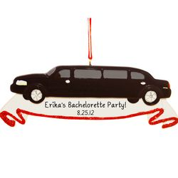 Party Limousine Personalized Christmas Ornament
